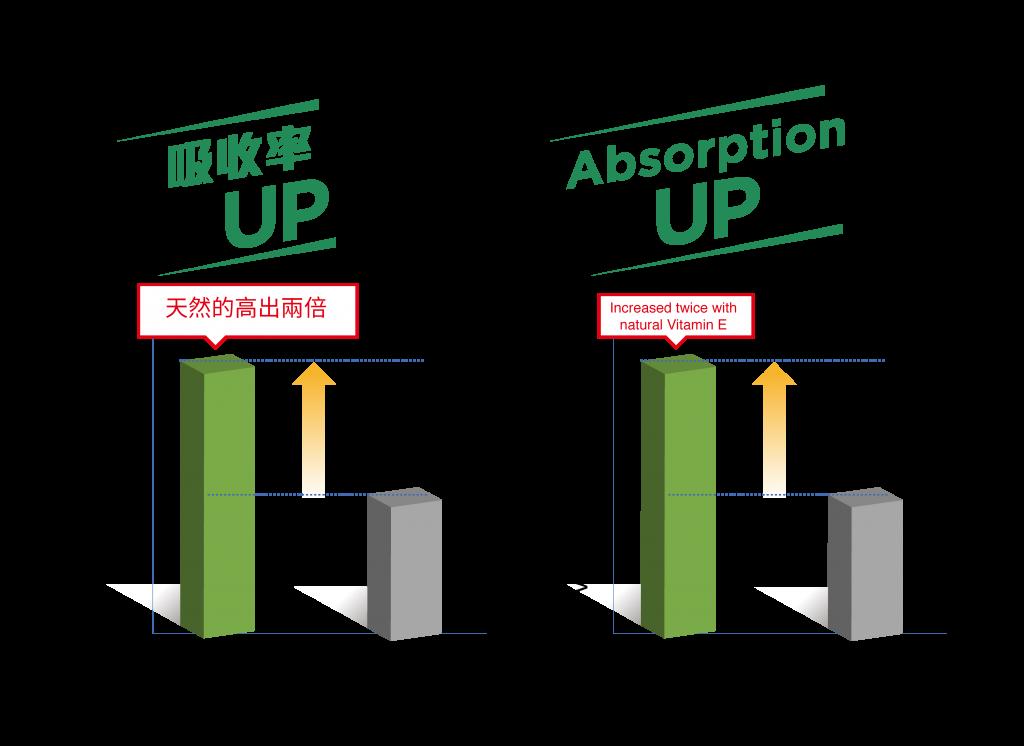 吸收率UP(右圖)